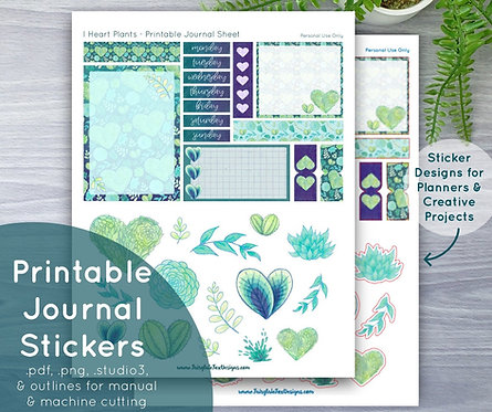 I Heart Plants Printable Journal Sheet