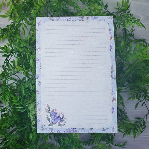 Purple Floral Moon Notepad