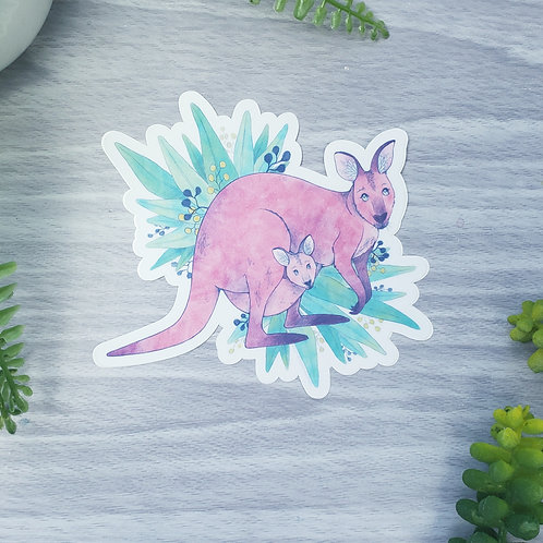 Kangaroo Vinyl Sticker (Fundraiser for Australia)