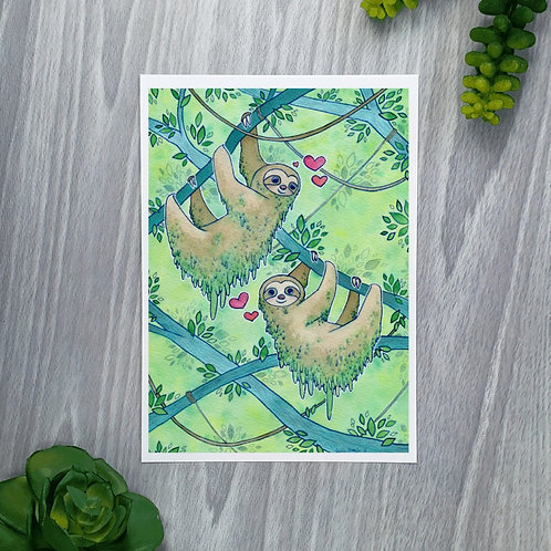 Sloth Love Fine Art Print