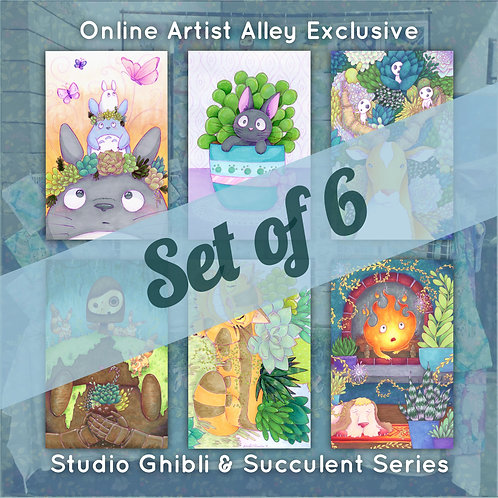 Studio Ghibli & Plants Fan Art Poster Print Set (Set of 6)