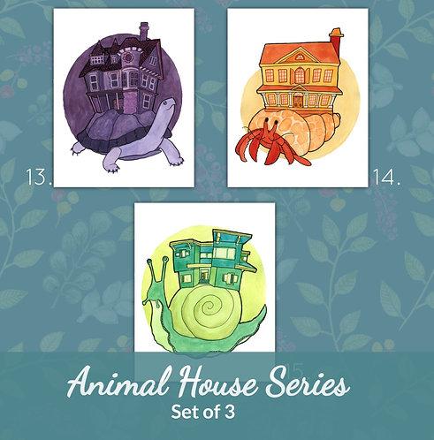 Animal House Set - Large Poster Art Prints (Set of 3)