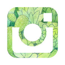 jennifer charlee instagram link with watercolor succulent collage
