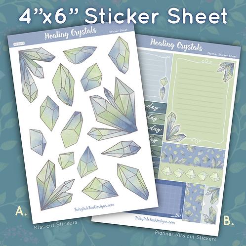 Healing Crystals Sticker Sheet