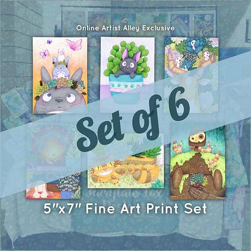 Studio Ghibli & Plants Small Fine Art Print Full Set (6 Prints)