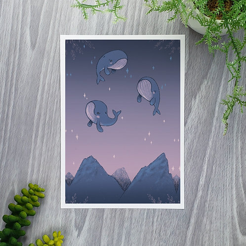 Sky Whales Fine Art Print (☆Limited Edition☆)