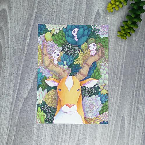 Mononoke & Plants Small Fine Art Print (1 Print)