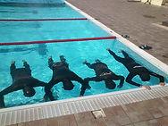 Προπόνηση στην πισίνα με τους Hellas Freedivers
