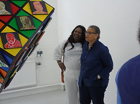 Turner Prize Winner Prof Lubaina Himid one of the artists featured in my work.