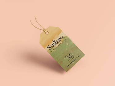 Serafina clothing tag design