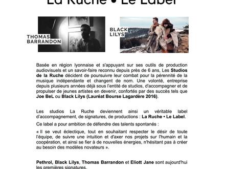 La Ruche - Le Label // Communiqué de Presse