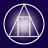 Logo of a light filled doorway withing a triangle within a circle