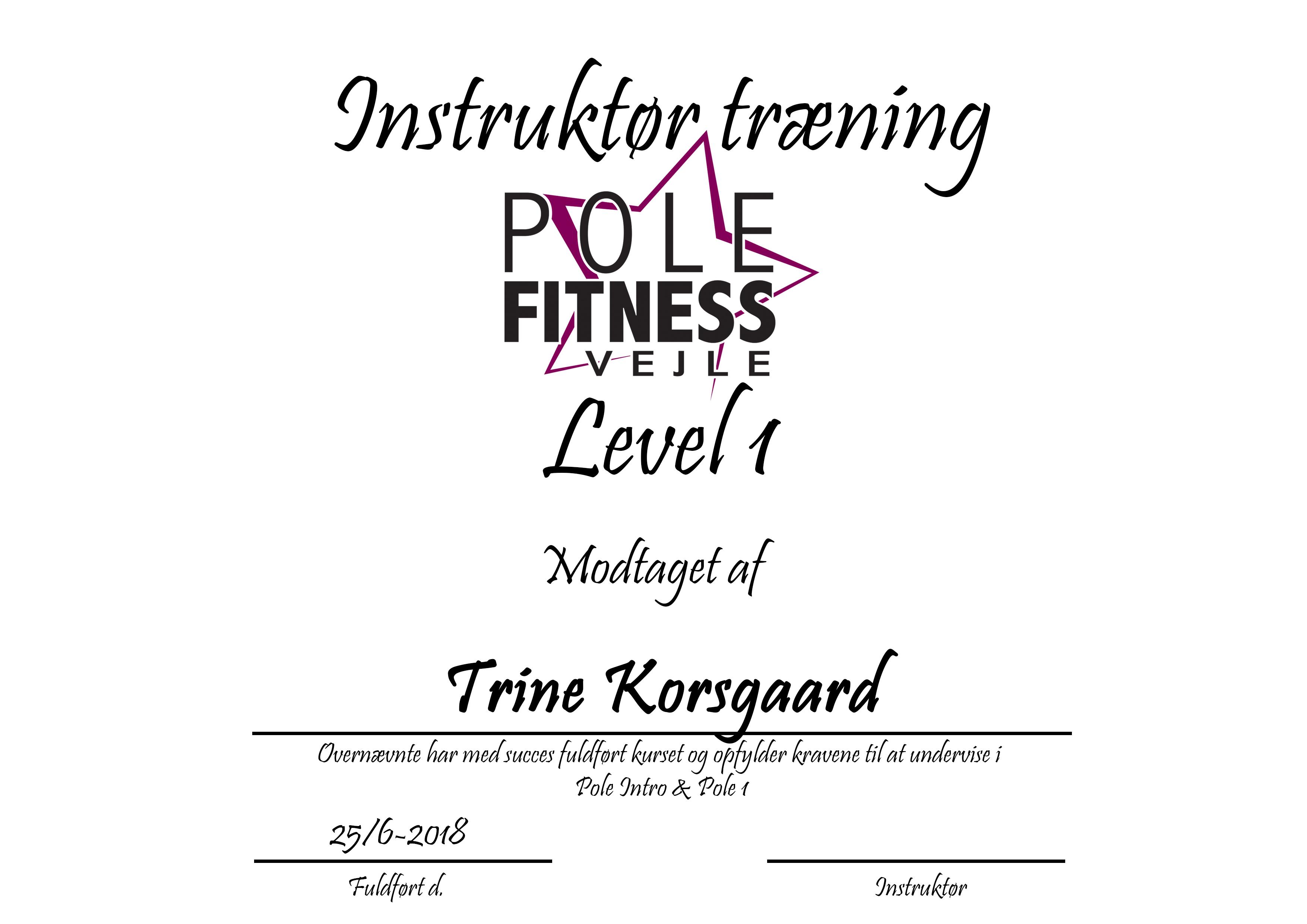 Trine_Instruktør_certifikat_level_1