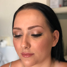 Bridal makeup look for Megan
