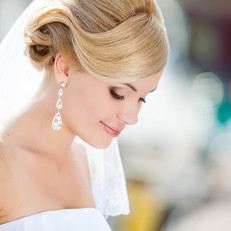 Bridal Makeup, sophisticated upstyle hair
