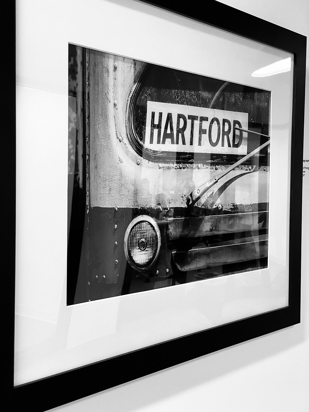 "Ray Shaw - Upward 2020 Artist In Residence - ""Last Stop Hartford"" - Framed Photograph"