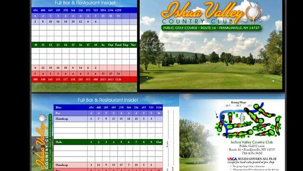 Ischua Valley Country Club Official Score Card