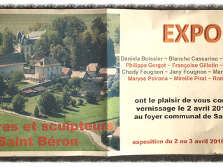 Expo peintures & sculptures à St Béron