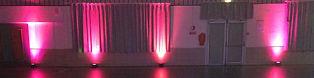 Décoration de salle des fetes en Isère avec projecteur PAR LED -Des Lyres en Musique