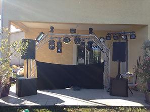 Sono DJ avec Structure Arche Alu en Savoie -Des Lyres en Musique