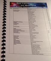 Listing pour karaoke en Savoie Isere Ain -Des Lyres en Musique