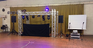 Sono DJ avec Structure Alu Carrée a Chambery- Des Lyres en Musique