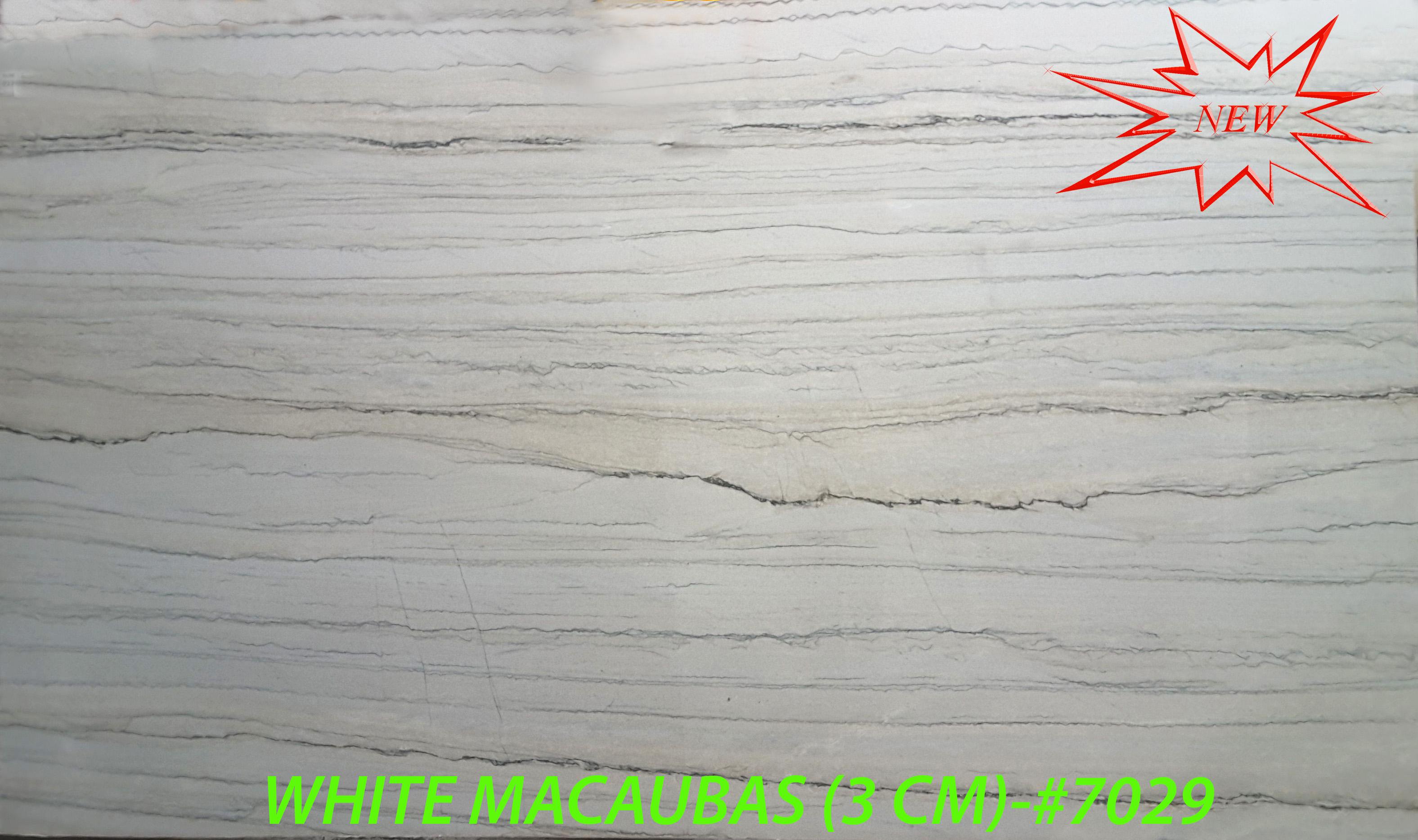 WHITE MACAUBAS (3 CM)-#7029-RED