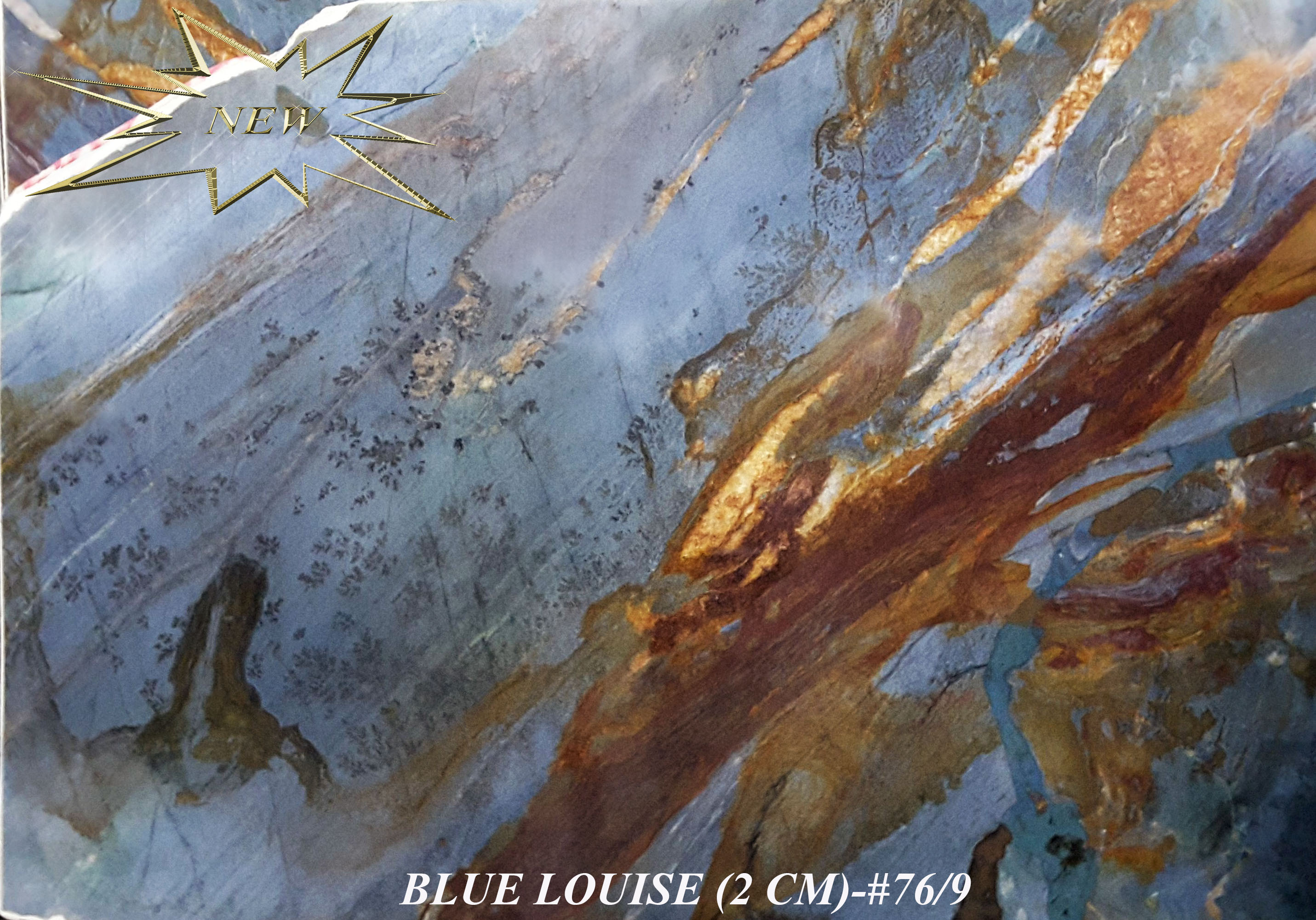 BLUE LOUISE 2CM-#76-9-STAR