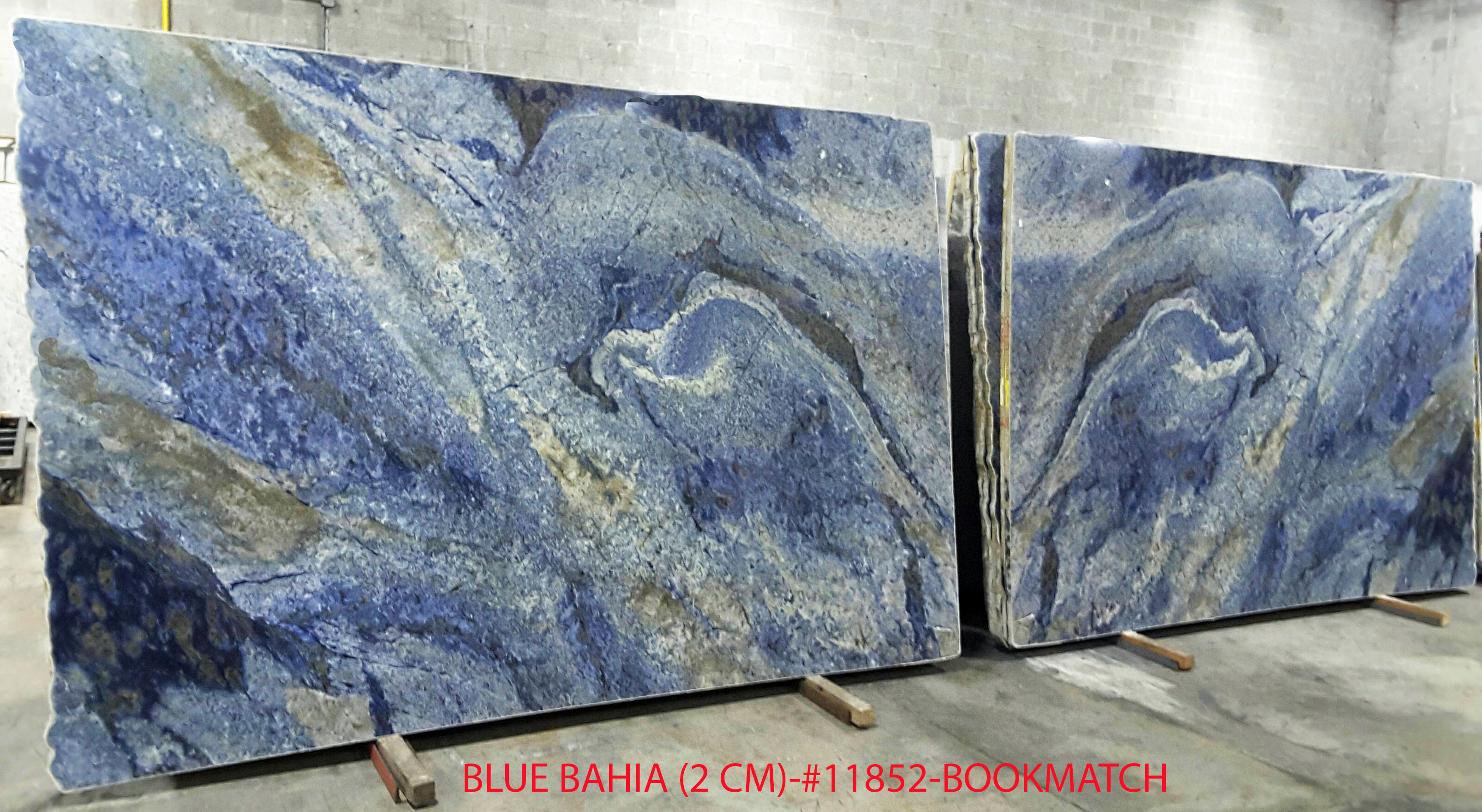 BLUE BAHIA (2 CM)-#11852-BOOKMATCH