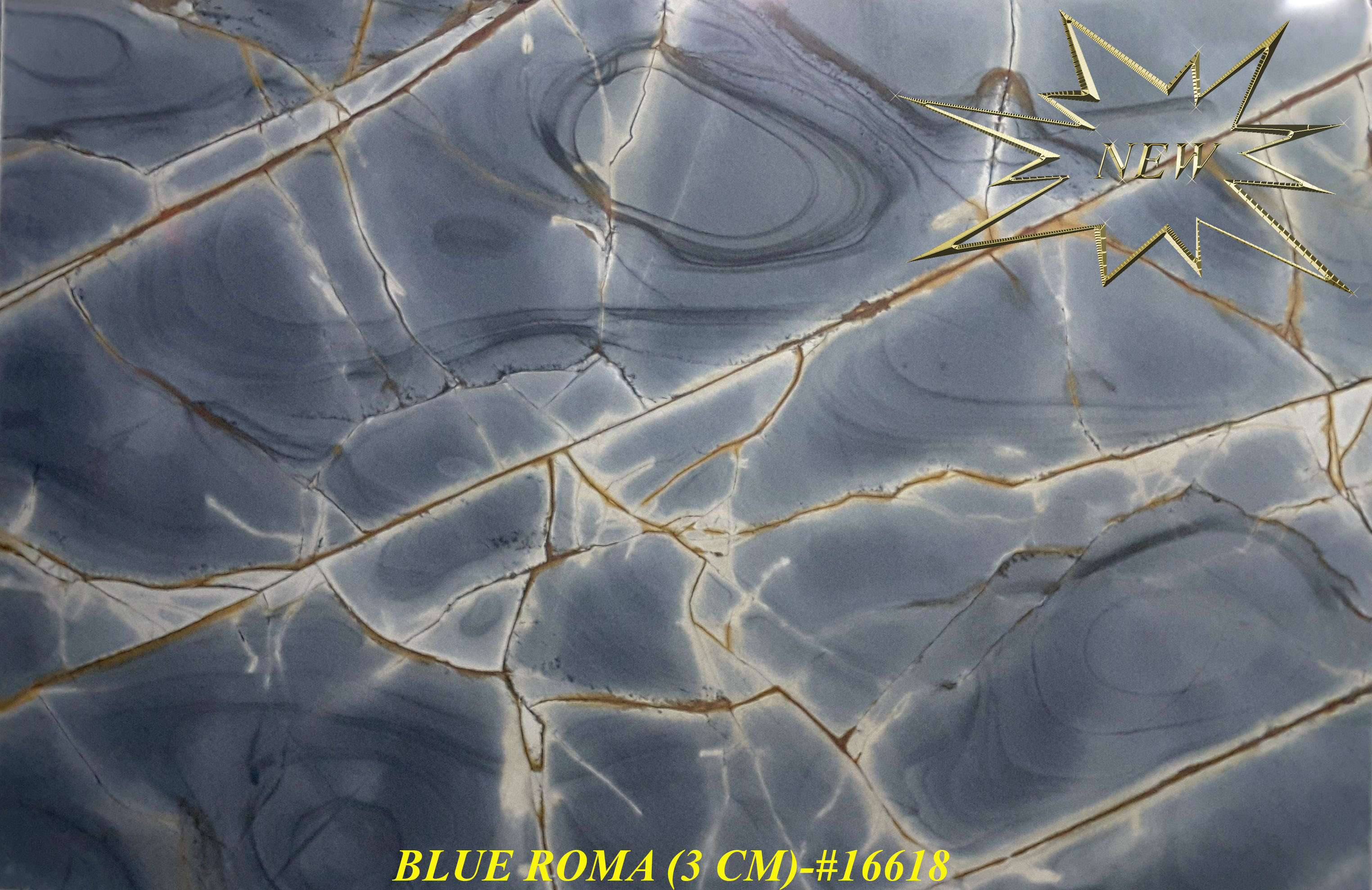 BLUE ROMA 3CM-#16618-S