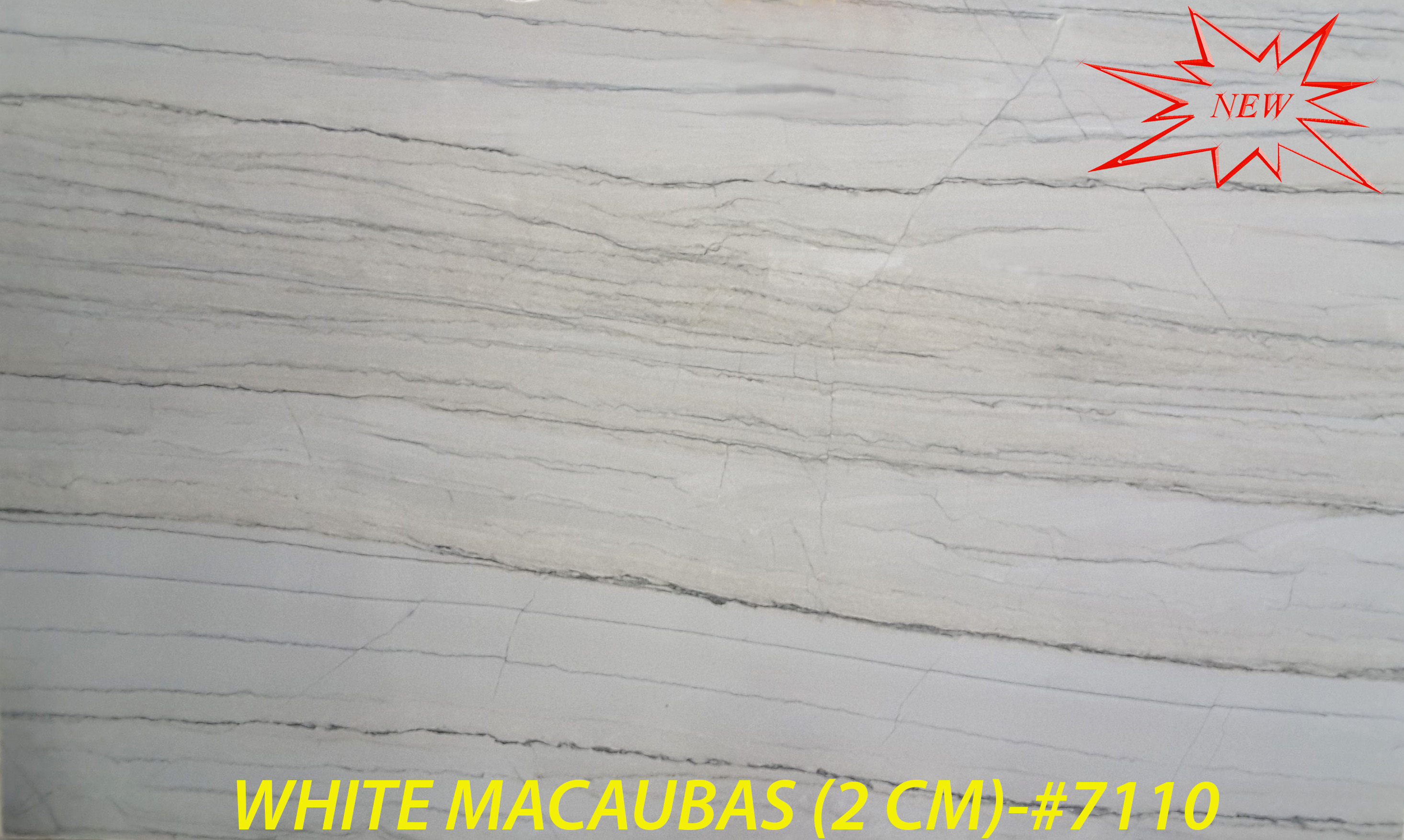 WHITE MACAUBAS (2 CM)-#7110-RED