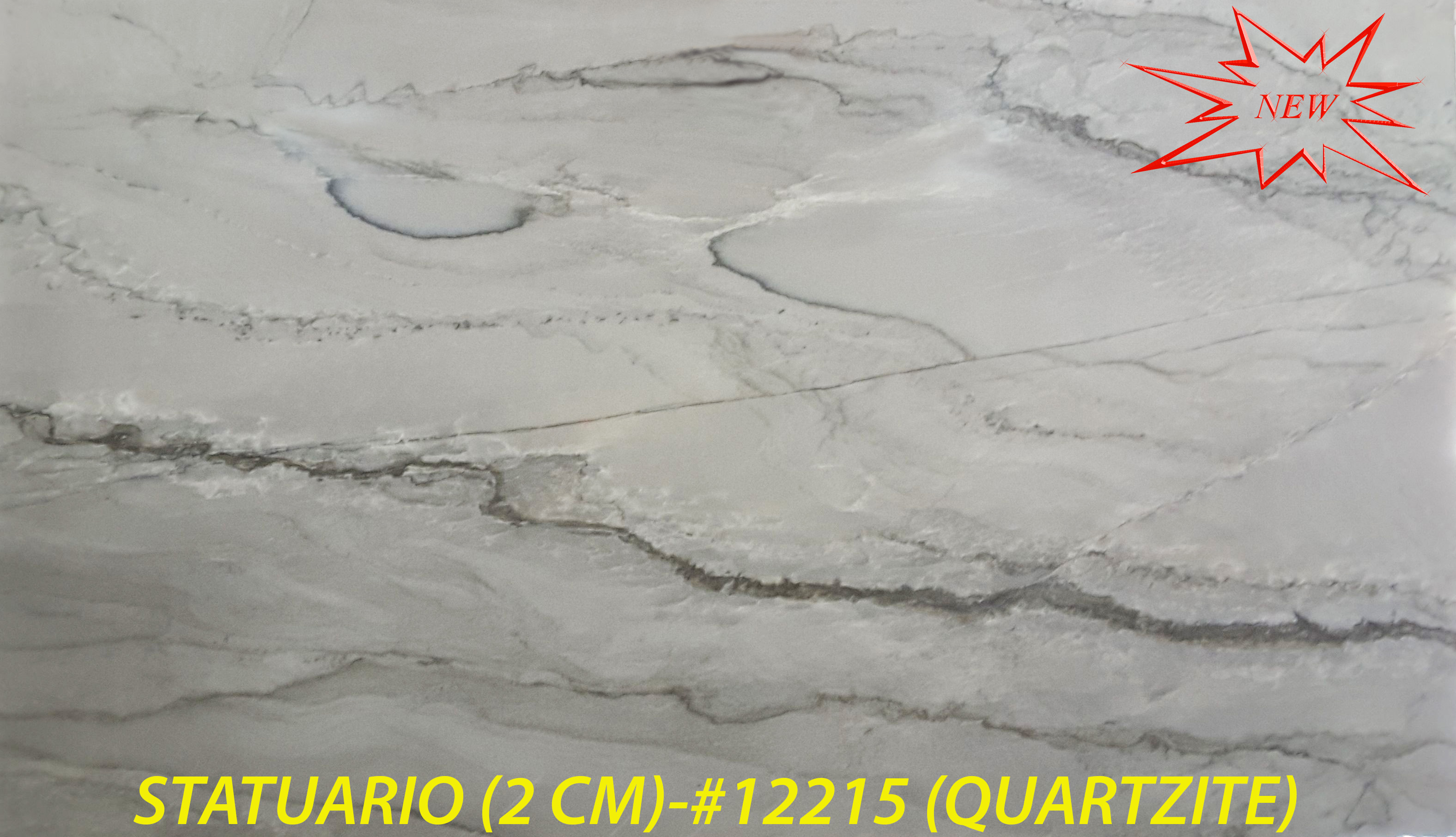 STATUARIO QUARTZITE (2 CM)-#12215-RED