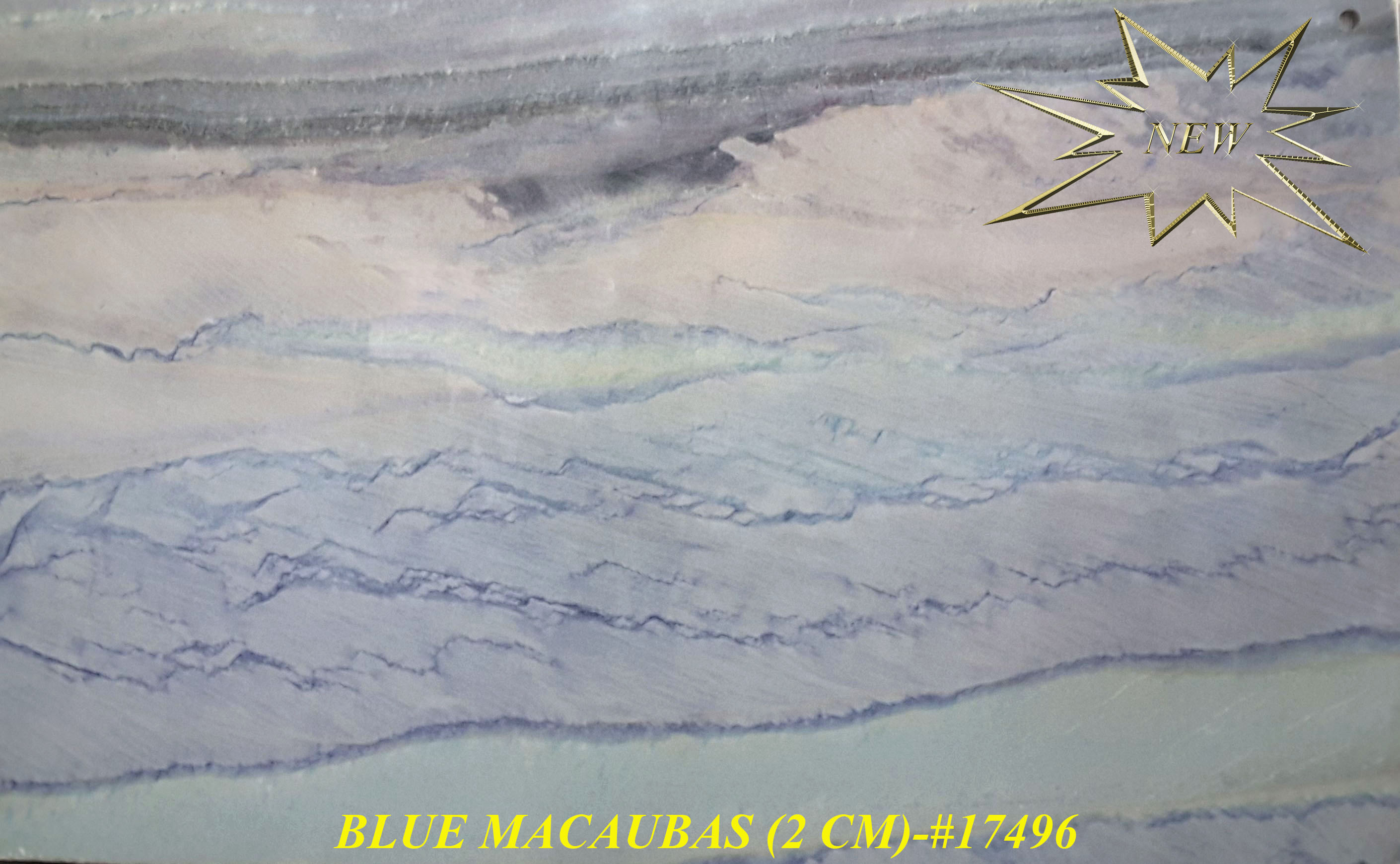 BLUE MACAUBAS (2 CM)-#17496-S