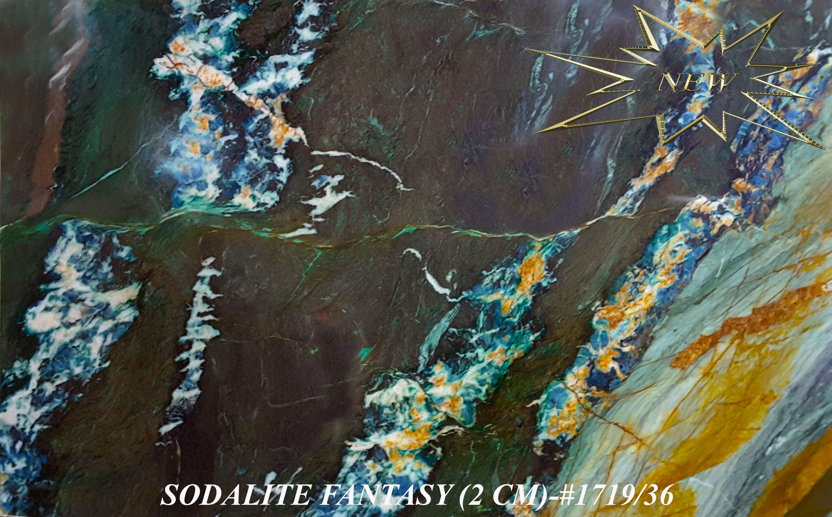 SODALITE FANTASY 2CM-#1719-36-STAR