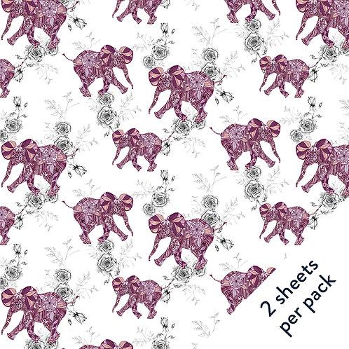 Elephants Gift Wrap