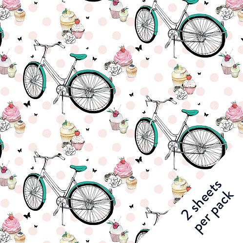 Bicycle & Cake Gift Wrap