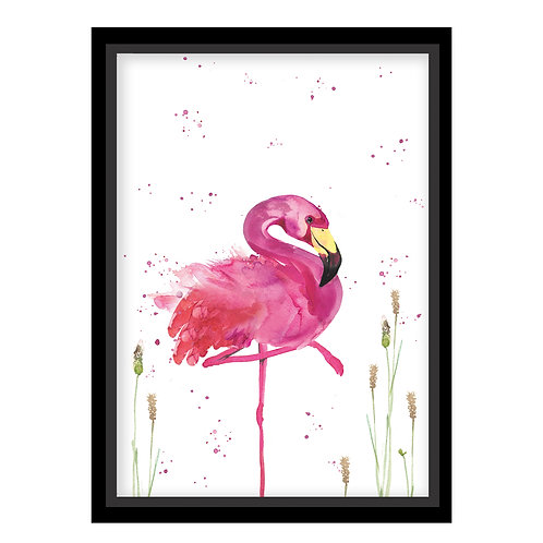 Regal Flamingo Wall Print