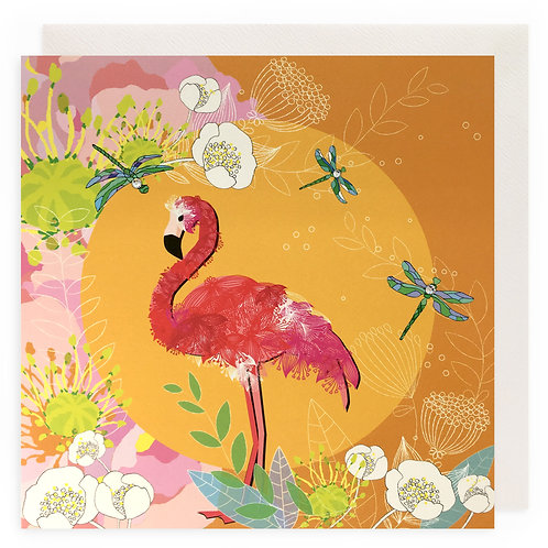 Cheerful Flamingo