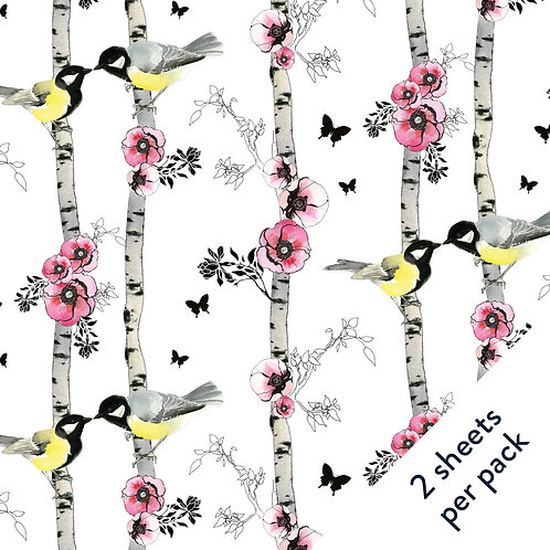 Birds & Birch Gift Wrap
