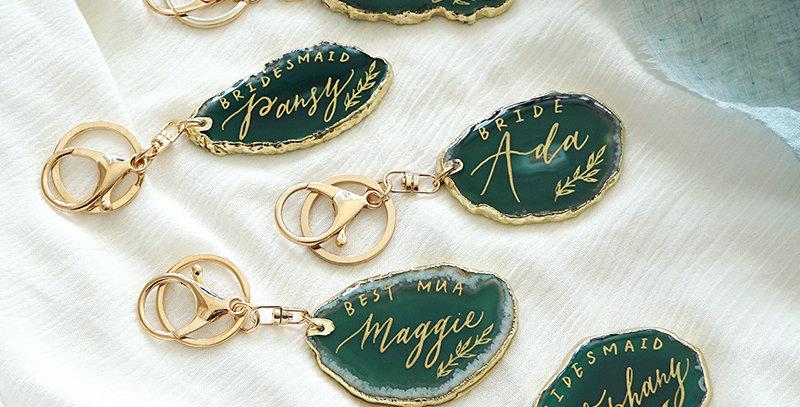 綠色小瑪瑙石匙扣 / 名片