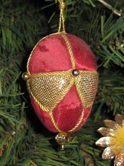 le mie palline di Natale tecni a patch su polistirolo