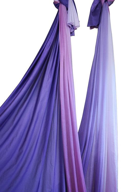 Violets Ombre Aerial Dance Silk - 8.4 Meters