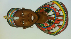 Samburu tribe girl by Tina Ramos Ekongo (2015)