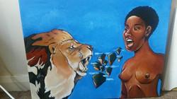 Africa roar by Tina Ramos Ekongo