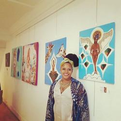 #africanartist #africanart #africanartwork #equatorialguineanartist #35chapelwalk #fellowshipexhibit