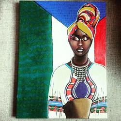 Portrait African Print
