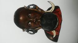 Mursi tribe girl by Tina Ramos Ekongo Acrylic  (2015)
