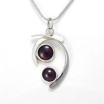 rutilated quartz pendant with opal