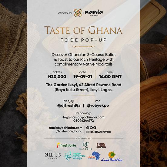 Taste of Ghana Food Festival Pop-up