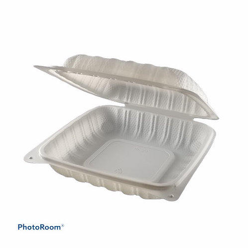 "Take-Out Container - 8"" x 8"" Clam Shell"